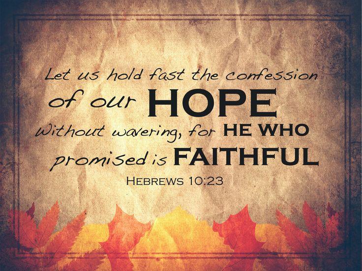 Verse of the Day - Hebrews 10:23 KJV - Highland Park ...
