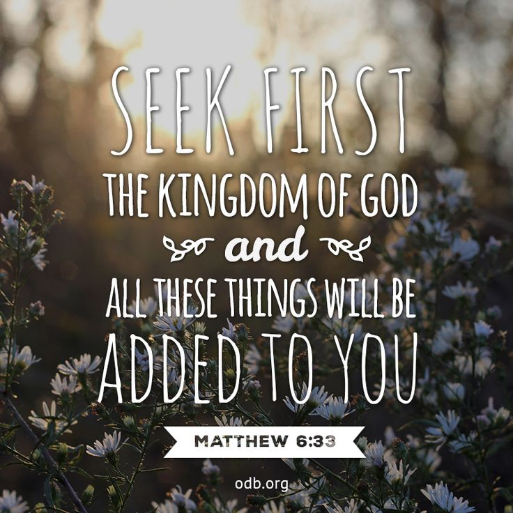 Verse of the Day - Matthew 6:33 KJV - Highland Park ...